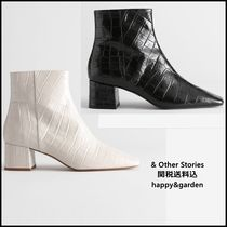 & Other Stories Square Toe Casual Style Other Animal Patterns Leather