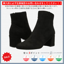 CHINESE LAUNDRY Round Toe Casual Style Plain Chunky Heels Boots Boots