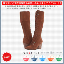 CHINESE LAUNDRY Lace-up Casual Style Plain Lace-up Boots