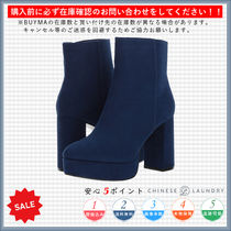 CHINESE LAUNDRY Round Toe Casual Style Plain Chunky Heels High Heel Boots