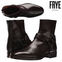 FRYE Plain Leather Engineer Boots