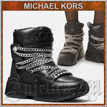 Michael Kors Platform Mountain Boots Round Toe Rubber Sole Casual Style