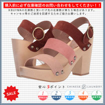 CHINESE LAUNDRY Open Toe Casual Style Chunky Heels Heeled Sandals