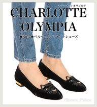 Charlotte Olympia Round Toe Casual Style Velvet Plain Other Animal Patterns