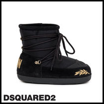 D SQUARED2 Casual Style Street Style Plain Boots Boots