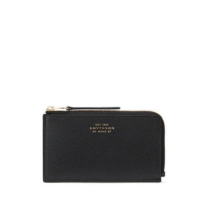 Unisex Suede Plain Leather Long Wallet  Small Wallet Logo