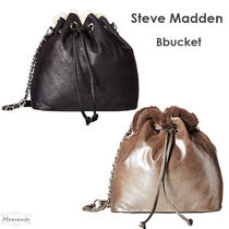 Steve Madden Casual Style Faux Fur Chain Plain Crossbody Shoulder Bags