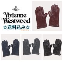 Vivienne Westwood Star Plain Leather Leather & Faux Leather Gloves