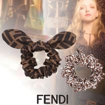 FENDI Scrunchy Casual Style Party Style Office Style Elegant Style
