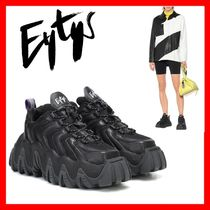 Eytys Square Toe Platform Rubber Sole Casual Style Street Style