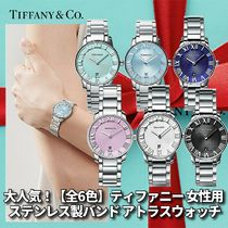 Tiffany & Co THE ATLAS Casual Style Round Party Style Quartz Watches Stainless