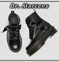 Dr Martens MOLLY Platform Lace-up Casual Style Plain Leather Party Style