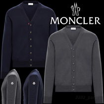 MONCLER Wool Plain Logos on the Sleeves Cardigans