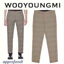 WOOYOUNGMI Other Check Patterns Wool Cropped Pants