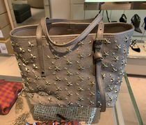 Jimmy Choo Studded Leather Logo Totes