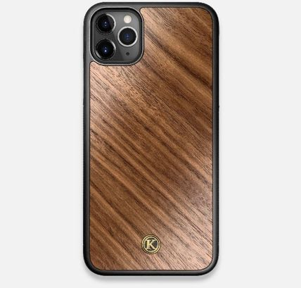 Unisex Plain Handmade Made of Wood iPhone X iPhone XS