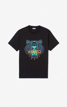 KENZO Crew Neck Crew Neck Unisex Street Style Cotton Short Sleeves 5