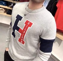 Tommy Hilfiger Street Style Long Sleeves Plain Sweaters