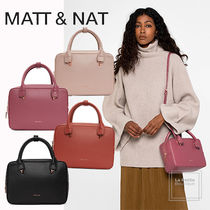 MATT&NAT Casual Style Faux Fur 2WAY Plain PVC Clothing Office Style