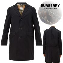 Burberry Other Check Patterns Plain Long Chester Coats