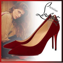 Christian Louboutin Casual Style Plain Pin Heels Elegant Style