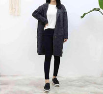 Cable Knit Casual Style Long Sleeves Long Gowns Knitwear