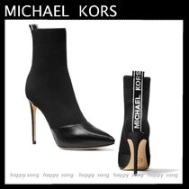 Michael Kors Rubber Sole Casual Style Plain Leather Pin Heels