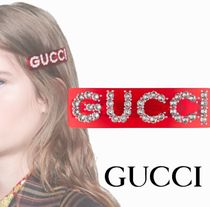 GUCCI Barettes Casual Style Party Style Office Style Elegant Style