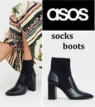ASOS Plain Sock Boots Ankle & Booties Boots