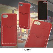 LOEWE Leather iPhone 8 Logo Smart Phone Cases