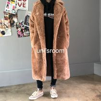 Faux Fur Street Style Plain Long Oversized Eco Fur Shearling