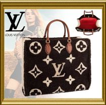 Louis Vuitton Monogram Casual Style Fur Blended Fabrics 2WAY Leather