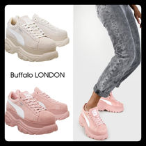 Buffalo LONDON Platform Casual Style Suede Street Style Collaboration Plain