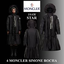 MONCLER Nylon Plain Long Trench Coats