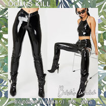 DOLLS KILL Casual Style Street Style Plain Party Style Skinny Pants