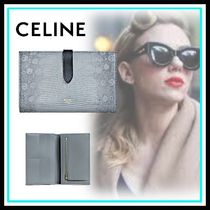 CELINE Strap Blended Fabrics Home Party Ideas Long Wallets