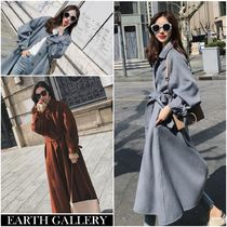 Casual Style Wool Long Elegant Style Parkas