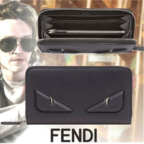 FENDI Unisex Calfskin Long Wallets