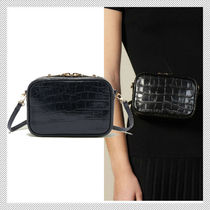 sandro Casual Style 2WAY Plain Leather Shoulder Bags