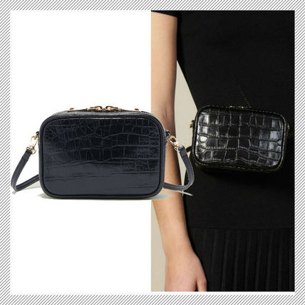 Casual Style 2WAY Plain Leather Crossbody Formal Style