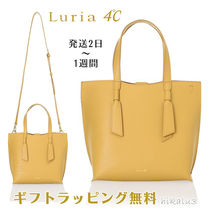 4℃ Casual Style 2WAY Plain Leather Elegant Style Shoulder Bags