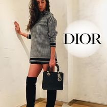 Christian Dior Other Plaid Patterns Casual Style Cashmere Long Sleeves