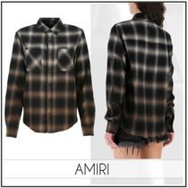 AMIRI Other Check Patterns Casual Style Long Sleeves Cotton