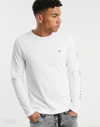 Tommy Hilfiger Long Sleeve Crew Neck Street Style Long Sleeves Plain Cotton 2