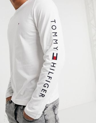 Tommy Hilfiger Long Sleeve Crew Neck Street Style Long Sleeves Plain Cotton 4