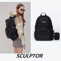 SCULPTOR Unisex Street Style Plain Backpacks