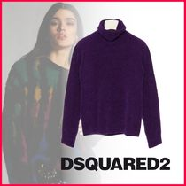 D SQUARED2 Short Casual Style Wool Rib Long Sleeves Plain Office Style