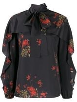 RED VALENTINO Flower Patterns Street Style Elegant Style Shirts & Blouses