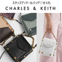 Charles&Keith Faux Fur 2WAY Chain Plain Party Style Elegant Style Handbags