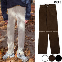 ASCLO Slax Pants Corduroy Street Style Collaboration Plain